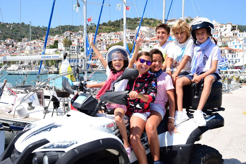 CTS Family Sailing Holidays Greece kids sailing quad