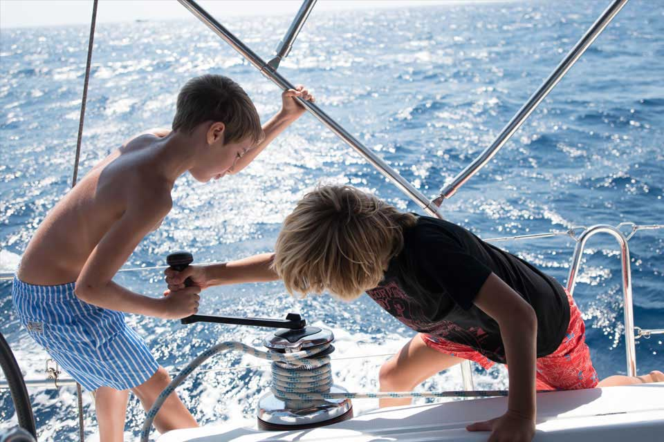 CTS Family Sailing Holidays Greece kids sailing school