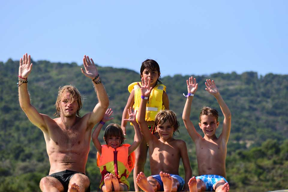 CTS Family Sailing Holidays Greece kids staff cooning